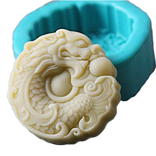 Grainrain Dragon Silicone Soap Bar Mold for Handmade Melt & Pour Soap 2.57 Oz