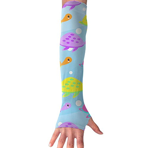 YOIGNG Cute Little Turtle Gloves Anti-uv Sun Protection Long Arm Cooling ()