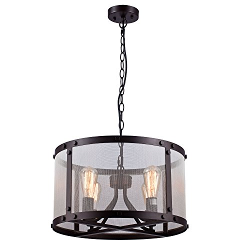 Light Fixtures Uae: CLAXY Ecopower Vintage Mesh Chandelier 4 Lights Pendant
