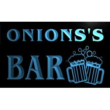w124609-b ONIONS Name Home Bar Pub Beer Mugs Cheers Neon Light Sign