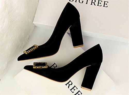 Heels 9Cm High A Shoes Heel Black Woman Sandals Girls Pregnant EU40 Ladies Comfort Platform Queen Dancing CLOVER Chunky Party LUCKY Feminine w0xtqq