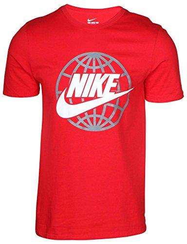 Nike Männer Nike läuft dieses Grafik T-Shirt rot
