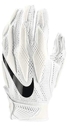 Nike Mens Superbad Sticky Magnigrip Receiver Football Gloves - White - Medium ...