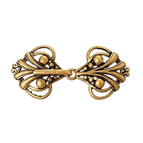 Copper Toggle Clasps Heart Golden Tone 4.6cm x2.1cm(1 6/8inches x 7/8inches), 1 Piece