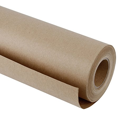RUSPEPA Brown Kraft Paper Roll - 48 Inch x 100 Feet - Recycled Paper Perfect for Gift Wrapping, Craft, Packing, Floor Covering, Dunnage, Parcel, Table Runner -