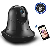 Wigoo Wireless IP Camera (PRO HD1080P) ,WiFi Security Surveillance IP Camera System for Home/ Baby with 2-way Audio & Night Vision (WPA / WPA2 AES Encryption to Protect Privacy)