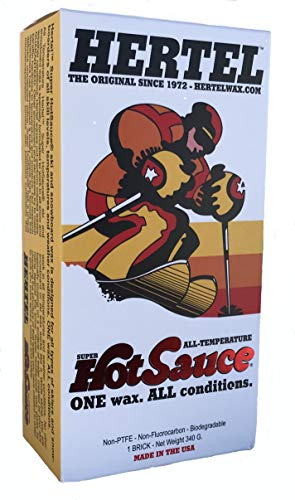 Hertel All Temperature Ski and Snowboard Wax (340g Brick) Use Hot or Cold for Safe, Smooth, and Fast Control