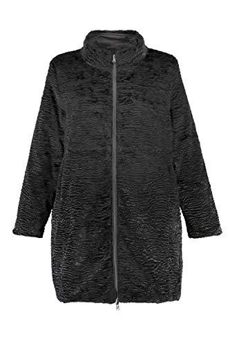 Ulla Popken Women's Plus Size Reversible Faux Persian Lamb Coat Dark Grey Melange 16 718843 ()