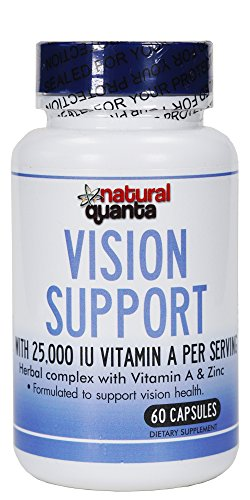 - Vision Support with 25,000 IU Vitamin A per Serving Herbal Complex with Vitamin A & Zinc 60 Capsules