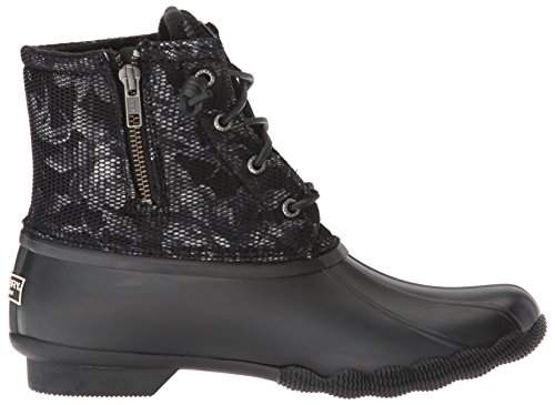 Sider Women's Black Boot Saltwater Rain Sperry White Top Floral pzwxqf