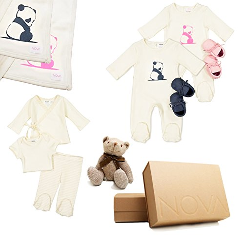20 Pcs Essential Newborn Baby Girl Layette Cotton Fabric Shower Clothes Gift Set