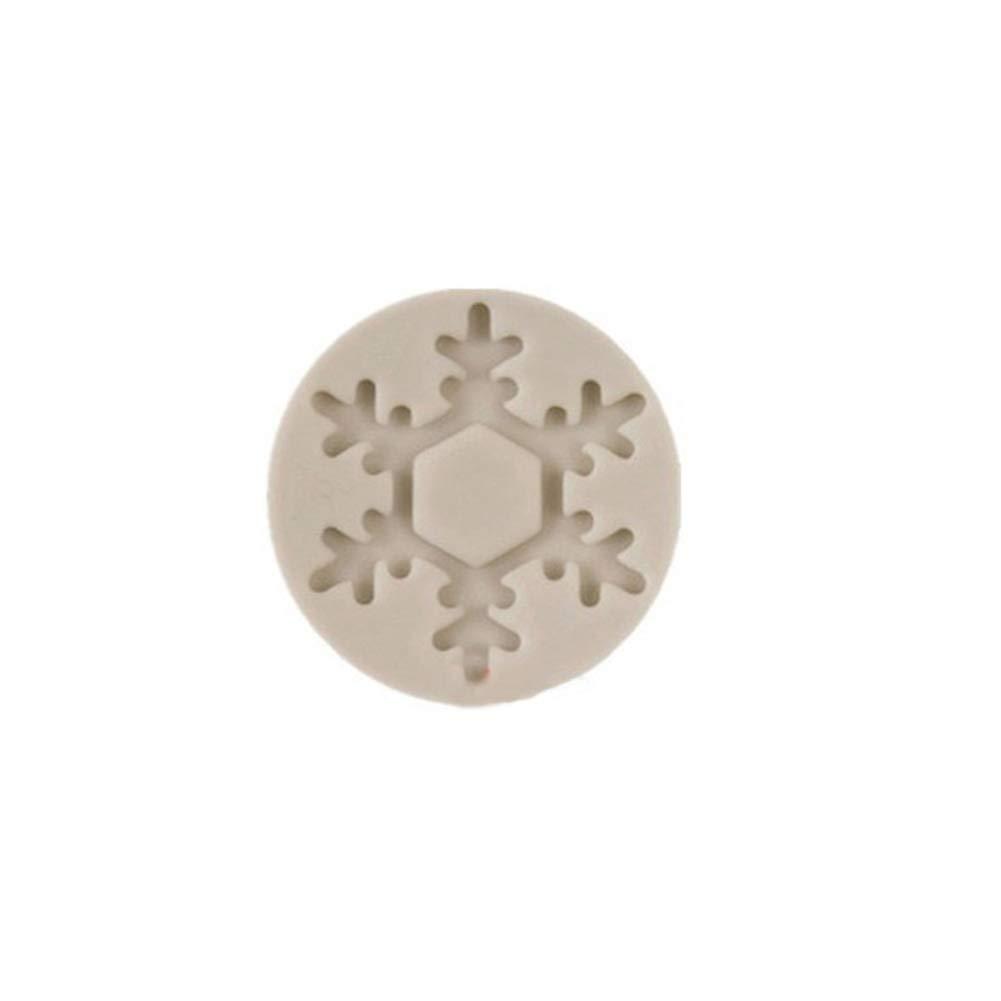 Yamalans Snowflake Shape DIY Fondant Cake Chocolate Mold Decorative Cookie Biscuit Silicone Mold Baking Tool 4#