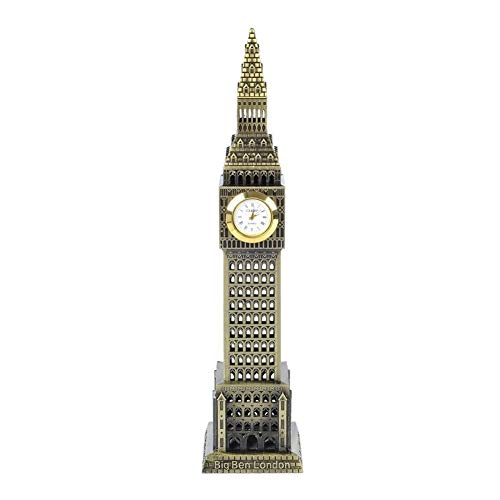 (PROW 7.5 Inch England Big Ben State Building Model Metal Statue Collectible Figurine for Personalised Gifts Tourism Souvenir Desktop Decoration (Bronze))