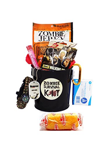 Zombie Apocalypse Survival Gift Basket with Walking Dead Loot (Walking Dead Gift Basket)