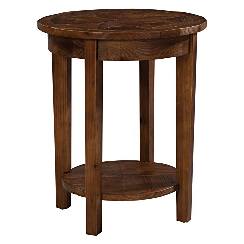 Alaterre Revive Reclaimed Round End Table in Natural