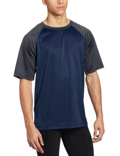 - Kanu Surf Men's Short Sleeve UPF 50+ Swim Shirt (Regular & Extended Sizes), Contrast Navy, XX-Large