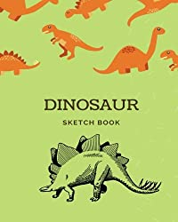 Dinosaur Sketch Book: 8x10 Paint or Color for Kids, Drawing, Doodling & Writing Book, Blank Paper & Notebook (Elite Sketchbook)