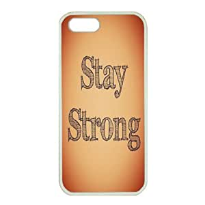 iPhone 5/5S Case,Fashion Durable White Side Diy design for Apple iPhone 5/5S(4.0 inch),Rubber material iPhone 5/5S Cover ,Safeguard Phone from Damage ,Designed Specially Pattern from our Life with Stay Strong quotes. by mcsharks