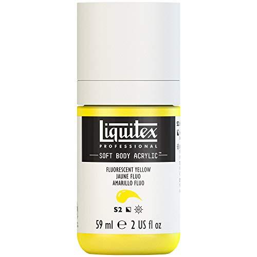 Liquitex Professional Soft Body Acrylic Paint 2-oz bottle, Fluorescent - Yellow Body Fluorescent