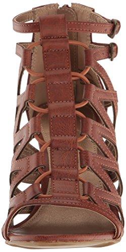 Women's Sandal Toe Cognac Bungee Rampage Dress Burn Chunky Polyurethane Open Elsies Heel Scnx8pqdw