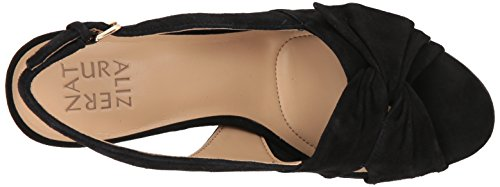 Women's Naturalizer Heeled Black Suede Sandal Fawn 118fdwx