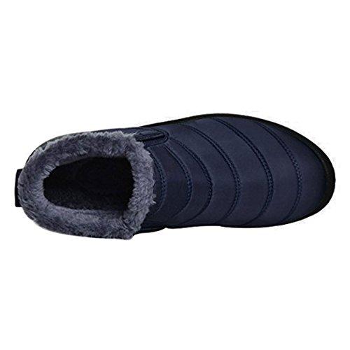 Orangetime Women's Winter Snow Ankle Boots-Comfort Warm Fur Lining Waterproof Outdoor Slip On Booties Sneakers
