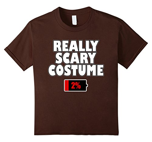 Kids Really Scary Costume Uncharged Device T-Shirt 10 (Quick And Easy Couples Halloween Costume Ideas)