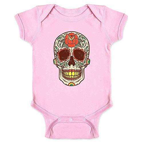 Catrina Costume Ideas (Rose Sugar Skull Halloween Costume Vintage Horror Pink 18M Infant)