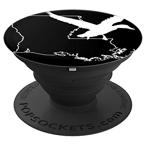 Duck Hunting In Louisiana Cajun Country Gift For Duck Hunter - PopSockets Grip and Stand for Phones and Tablets (Best Duck Hunting In Louisiana)