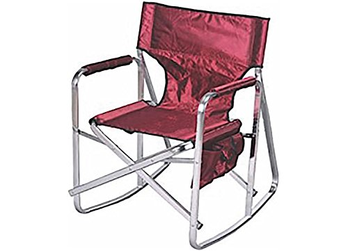 Ming's Mark SL1205BURG Burgundy Rocking Director Chair by Ming's Mark