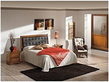 Estea Mobili Letto Matrimoniale Moderno Imbottito Ecopelle Colore Noce Legno Massello 038 1 Come Foto Amazon It Casa E Cucina