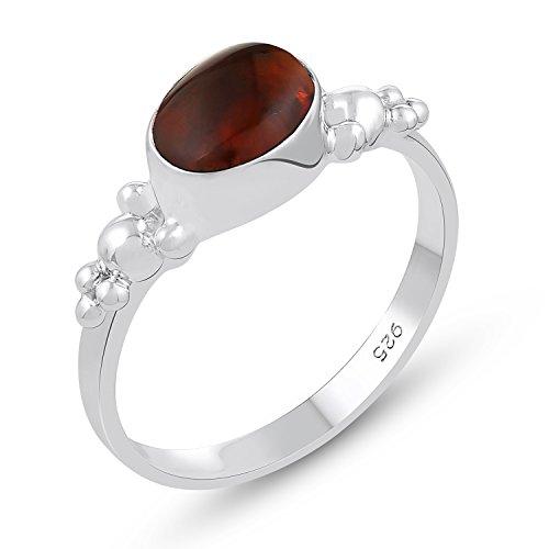 Genuine Gemstone .925 Sterling Silver Amber ()