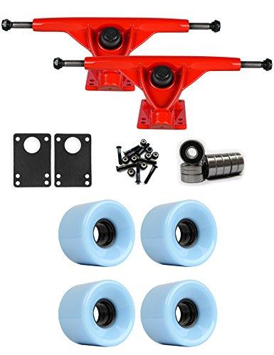 吸収するシェルタースマッシュRKPレッドLongboard Trucksホイールパッケージ59 mm x 43 mm 83 a 291 Cブルー