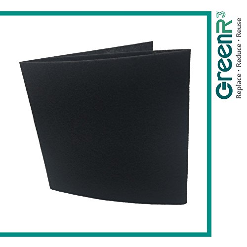 GreenR3 1-PACK Cut-to-Fit Carbon Pad 16 x 48 inches for Air Filters Charcoal Sheet fits Air Purifiers Range Hoods Furnace Filters removes Odor VOC Parts Accessories Replacement Replenishment and more