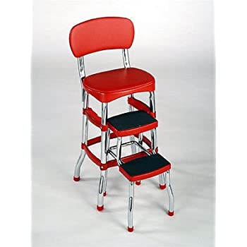 Amazon Com Cosco Retro Counter Chair Step Stool With Lift