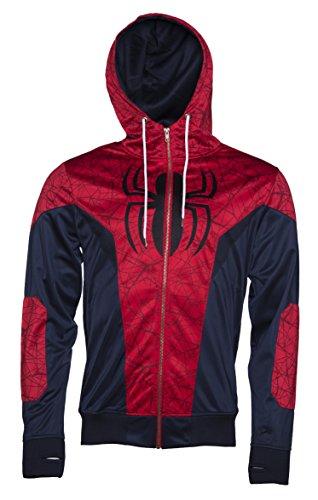 Mens Marvel Comics Spider Man Costume Hoodie Jacket