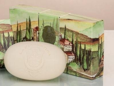 (La Florentina Cypress Silver Luxury Italian Soap, 3 x 5.3 oz / 150g, Imported from Italy)