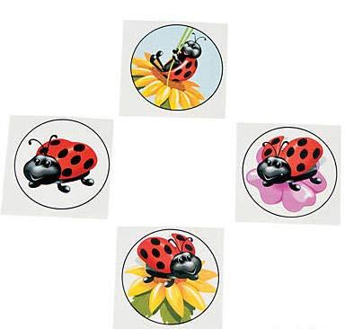 Lady Bug Tattoos (216 (18 Dozen Ladybug Tattoos - Birthday Party Favors - Fun 1.5