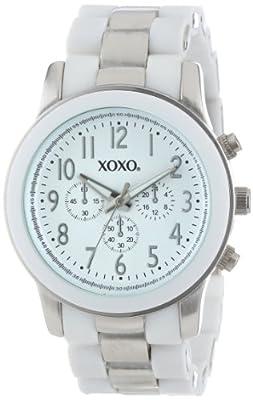 XOXO Women's XO5643 Silver and White Bracelet Analog Watch by XOXO