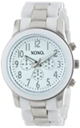 XOXO Women's XO5643 Silver and White Bracelet Analog Watch