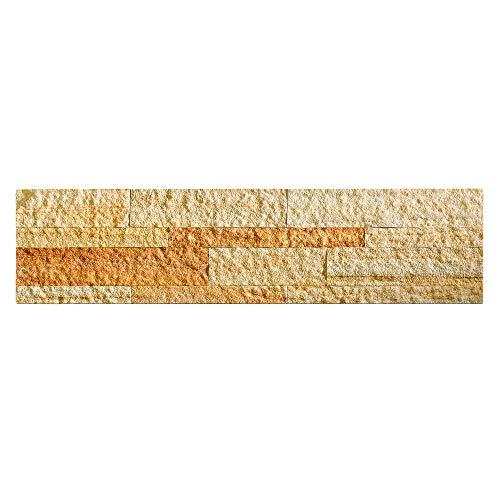 Aspect Peel and Stick Stone Overlay Kitchen Backsplash - Golden Sandstone (5.9\