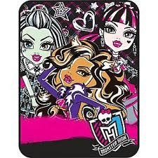 Monster High Throw Micro Raschel Blanket 46
