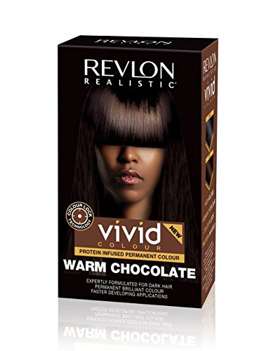 Revlon Realistic Vivid Colour Protein Infused Permanent Color Hair Dye with Color Lock Technology, 110ml (110ml, Single, Warm Chocolate)