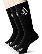 Volcom No Show 3 Pack Socks - Black