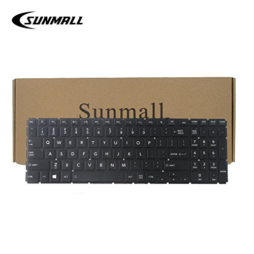 SUNMALL Backlight Keyboard Replacement Compatible with Toshiba Satellite Radius P55W-B P55W-c l50-b l55t-b5271 s55t-b5273nr l55d-b5364 p55w-c5200 p55w-b5318 p55w-c5200x p55w-b5112 p55w-b5220 Laptop (Satellite Keyboard Toshiba L50)