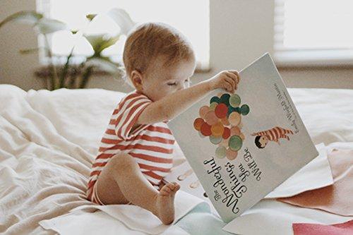 Finn + Emma Emily Winfield Martin Gift Box Set – Organic Cotton Rattle Buddy and Lap Bodysuit – 3-6 Months, Raccoon