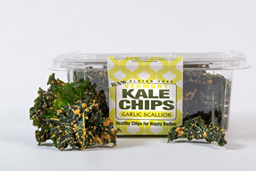 Vermont Kale Chips Organic Raw Healthy Snack - Garlic Scallion - 2 oz (Dehydrated Scallions compare prices)
