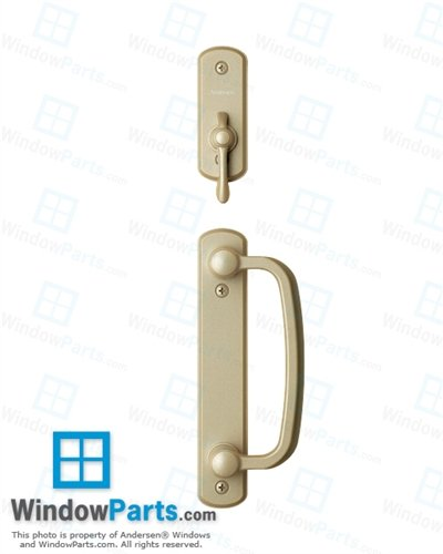 Andersen® Albany 2-Panel Gliding Door Hardware Set in Gold Dust