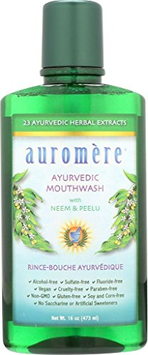 - Ayurvedic Mouthwash by Auromere - Fluoride-Free, Alcohol-Free, Natural, with Neem and Vegan - 16 fl oz