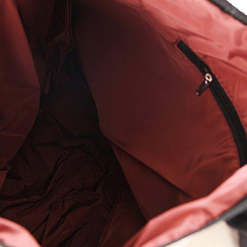 Damara lona equipaje bolsas Casual bolso de hombro bolsa morado oscuro